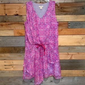 Sundance Catalog 100% Silk Geo Printed Dress Sz 8